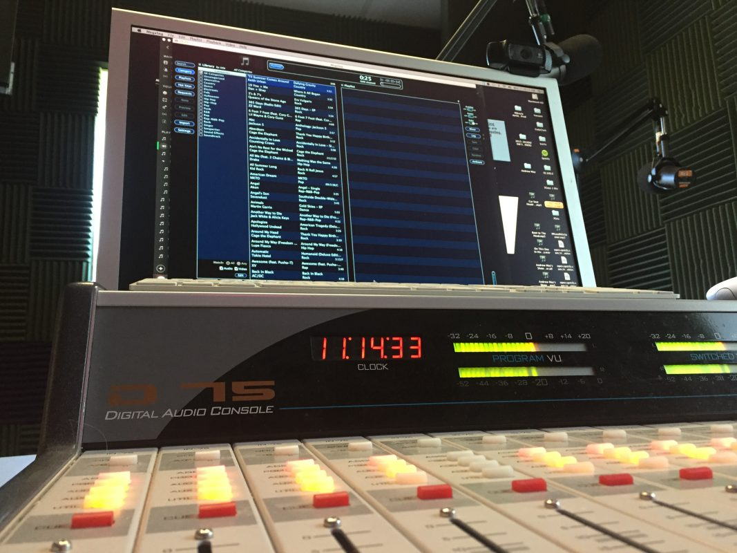 Image of radio station board