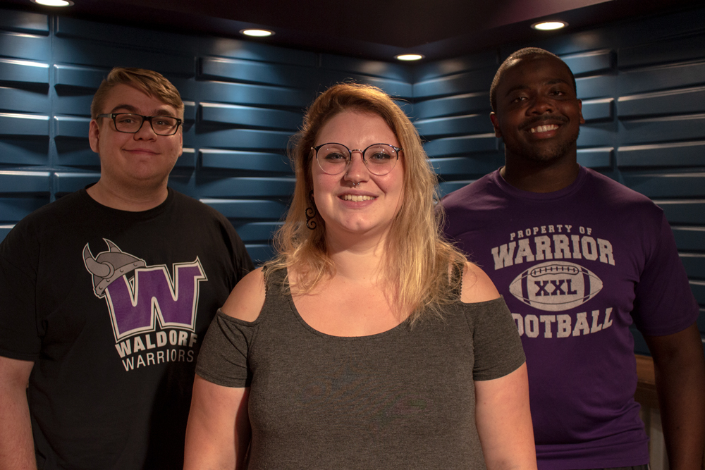 Photo of radio production group