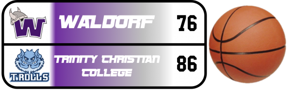Graphic displaying a score result from a Waldorf Athletic Event